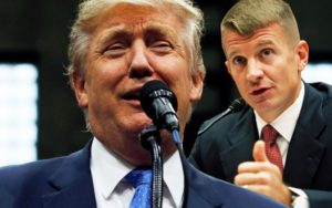 Trump and Blackwater founder Erik Prince, the brother of the new education secretary. Daily Beast illustration.