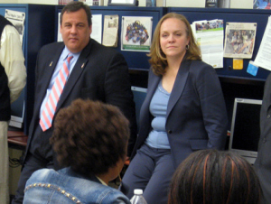 Christie and Anderson: Ooops. Photo by Steve  Sandberg/1010 news