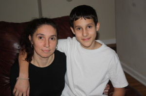 Grace Sergio and her son, Pedro