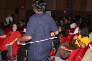 Doing the pink hula hoop at last  night's meeting