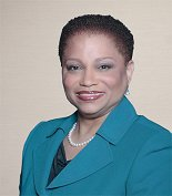 Antoinette Baskerville-Richardson--the usually open board member won't say where the money is coming from. Yet.
