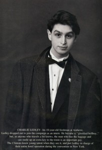 Charles Ledley as a young man working for the Clintons