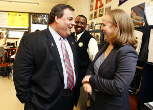 Christie and Anderson, together trying to fire teachers and break their union