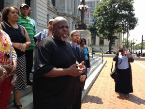 Jitu Brown, national director of Journey for Justice, announces federal investigation.