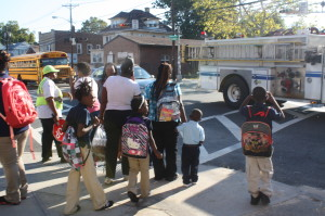 Children turned away from the schoolhouse door in Newark