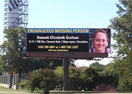 A billboard while Hannah was still missing