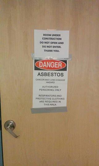 The door to Room 313 Monday