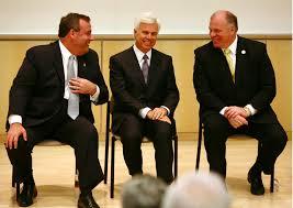 Christie, Norcross, Sweeney: The New Jersey junta. Credit: Blue Jersey