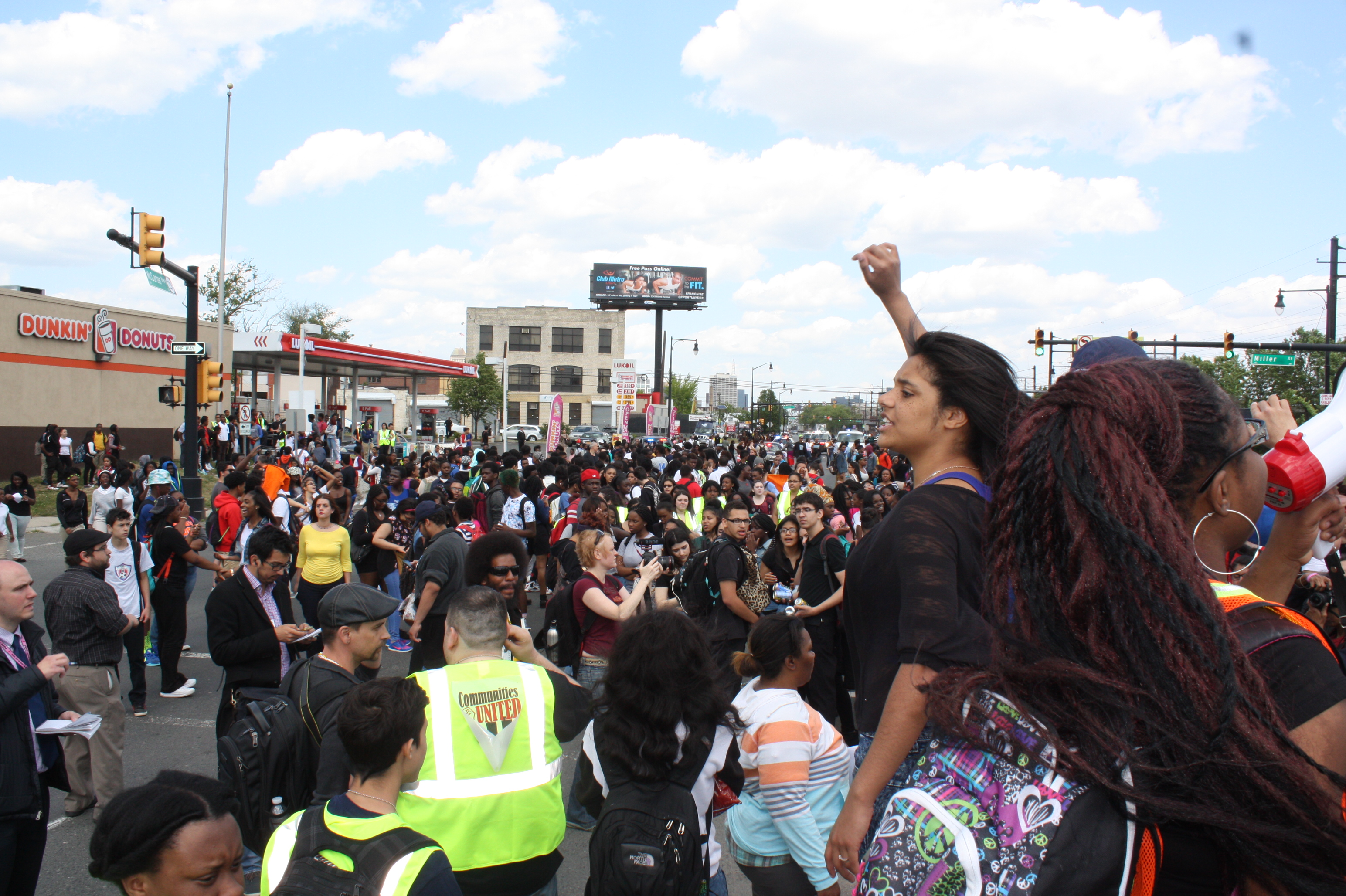 Crowds like this one last May could have sunk Christie--instead Christie got peace and Newark's charters got a future.