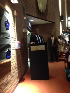 Mayor Ras Baraka speaks at Carver Tuesday night