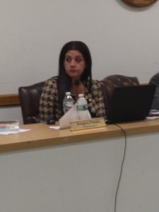 Board president Ariagna Perello wasn't allowed to ask questions about teacher transfers.
