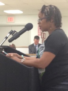 Freda Barrow speaks out at board meeting-Cerf was a no-show.