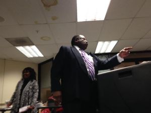 "Rev. John Givens tells the Paterson board: ""Reject this budget!"""