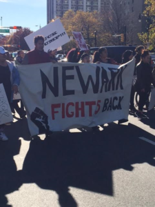 Protesters marched from City Hall to Penn Station